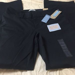 Dockers brand woman's 8 Long black pants  NWT